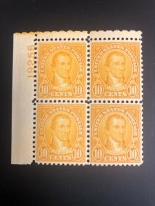 642 Plate Block Superb Mint Never Hinged
