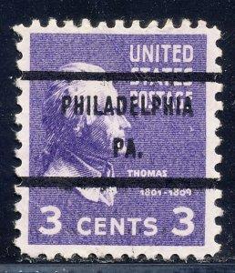 Philadelphia PA, 807-71 Bureau Precancel, 3¢ Jefferson