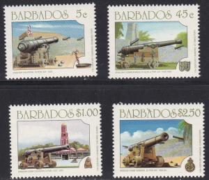 Barbados # 847-850, Canon, NH, 1/2 Cat