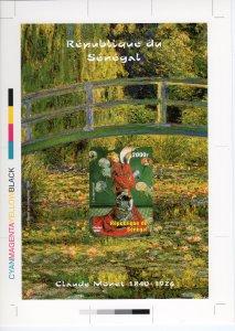 Senegal 1999 Claude Monet  The Japanese Girl  FINAL CHROMALIN PROOF UNIQUE !!