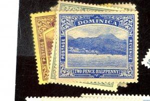 DOMINICA 52-3 55 70 MR1-2 4 MINT FVF OG LH/HR Cat $38