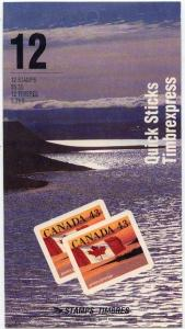 Canada USC #BK158b 12 Quick Sticks Stamps 1992 Booklet
