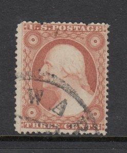 #26 - Washington 3 cent of 1857 (Plated 67R15)