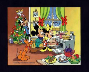SIERRA LEONE - 1993 - DISNEY - CHRISTMAS - MICKEY - MINNIE - GOODIES - MINT S/S!