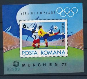 [42790] Romania 1972 Olympic games Munich Soccer Football MNH Sheet