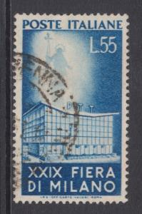 Italy Sc 573 used 1951 55l P.T.T. Building F-VF