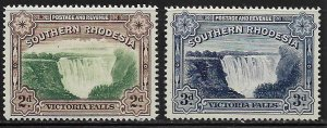 SOUTHERN RHODESIA   37-37a MINT HINGED,  VICTORIA FALLS SET 1935