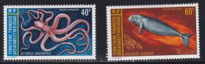 Afars & Issas # C81-82, Octopus & Dudong, Hinged, 1/3 Cat.