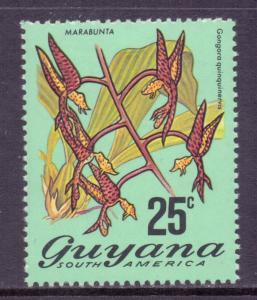 Guyana Scott 141a, 1971 Flowers 25c MH*