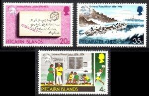 1974 Pitcairn Islands 141-143 100 years UPU - Ships