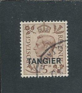 MOROCCO AGENCIES TANGIER 1949 5d BROWN FU SG 265 CAT £35