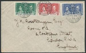 FALKLAND IS 1937 Coronation set on FDC - Port Stanley cds..................45847