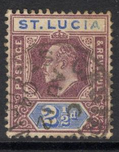 ST.LUCIA SG60 1902 2½d DULL PURPLE & ULTRAMARINE USED