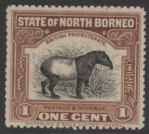 NORTH BORNEO SG158 1909 1c CHOCOLATE-BROWN p13½-14 MNH