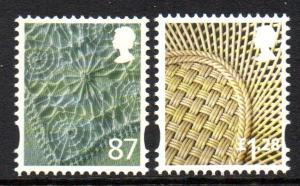 Great Britain Northrn Ireland 37-8 2012 87p linen £1.28 china stamp set mint NH