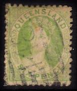 Queensland, #50, used, CV $40.00