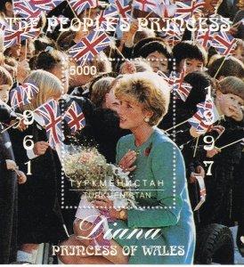 Turkmenistan Diana Souvenir Sheet (Z4206L)
