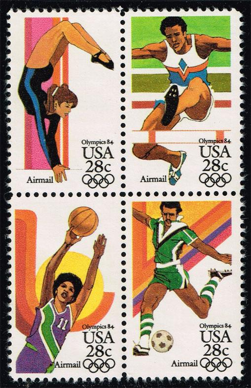 US #C104a 23rd Olympic Games Block of 4; MNH (4.25)