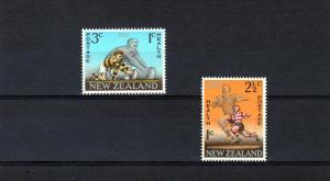 NEW ZEALAND 1967 Sc#B73-74 Rugby Set (2) MNH VF