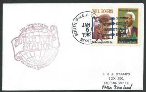 USA ANTARCTIC 1983 cover South Pole station................................53516