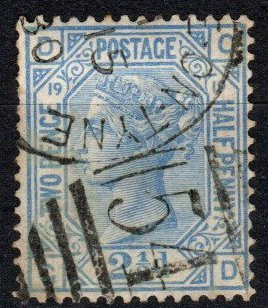 Great Britain #68 Plate 19 F-VF Used CV $65.00 (X5390)