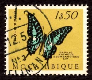 Mozambique 1953 Larger Striped Swordtail Butterfly Moth 1.50e Sc.372 Used (#4)
