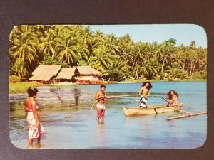 1967 Tahiti to Walnut Creek California Fishing Trip Real Picture Postcard Cover