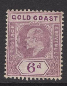 GOLD COAST SG54a 1906 6d DULL PURPLE & VIOLET CHALK SURFACED PAPER MTD MINT