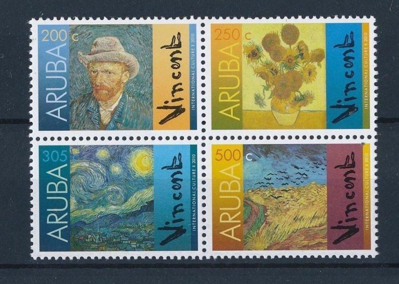 [AR450] Aruba 2010 Vincent van Gogh Dutch Painter MNH