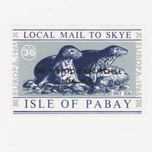 PABAY, British Local - 1965 - Churchill o/p on Grey Seals - Perf MNH Stamp