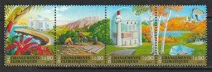2001 UN-Geneva - Sc 383a - MNH VF - Strip of 4 - Climate change