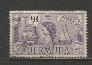 Bermuda    #154  Used  (1958)  c.v. $3.00