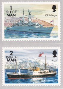 Isle of Man # 531 / 553A, Ships, Maxi Cards, Mint unused.
