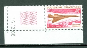 FRENCH POLYNESIA CONCORDE #C50...DATED CORNER STAMP...MNH...$55.00
