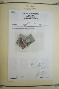 Austria 1800's to 1970's Stamp Collection
