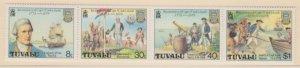 Tuvalu Scott #117a Stamps - Mint NH Strip of 4
