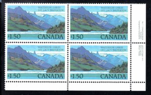935ii & 935iii - Waterton Lakes, 2 stamps with and 2 stamps without beacon, MNHO