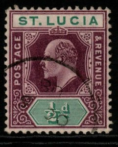 ST.LUCIA SG64 1904 ½d DULL PURPLE & GREEN FINE USED