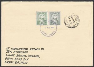 GB LUNDY 1988 cover to India - Puffin stamps................................F901