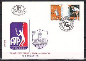 Yugoslavia, Scott cat. 2045-2046. Tennis Players issue. First day cover. ^