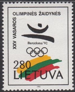 Lithuania, Sc 424, MNH, 1992, Olympic Games