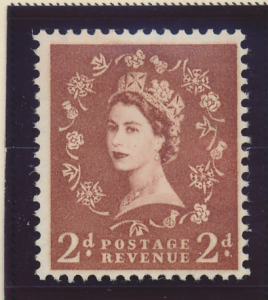 Great Britain Stamp Scott #356c, Mint Hinged - Free U.S. Shipping, Free World...