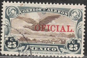 MEXICO CO2, OFFICIAL AIR MAIL, USED. F-VF. (713)
