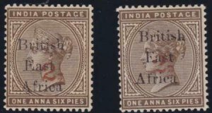 British East Africa 1895 SC 59 var MLH