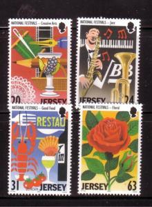 Jersey  Sc 840-43 1998 Europa Festivals stamp set mint NH