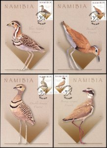Namibia. 2015. Coursers of Namibia [Rhinoptilus] (Mint) Set of 4 Maxi Cards