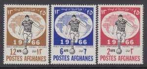 Afghanistan 727-729 Soccer MNH VF