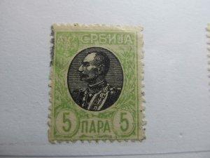 Serbien Serbia 1905-11 5p Fine used A5P18F362