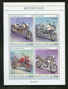 GUINEA BISSAU 2019  MOTORCYCLES SHEET MINT NH