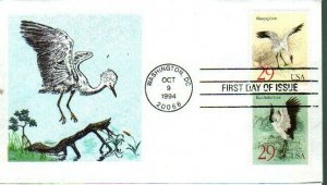 Heritage Cachet 2868A Whooping & Black Neck Crane